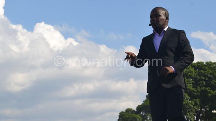 Billy Kaunda performing at a gospel event last year