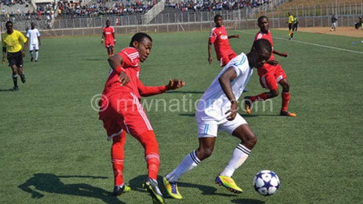Kawonga (R) scored the winning goal  for Chibuto FC