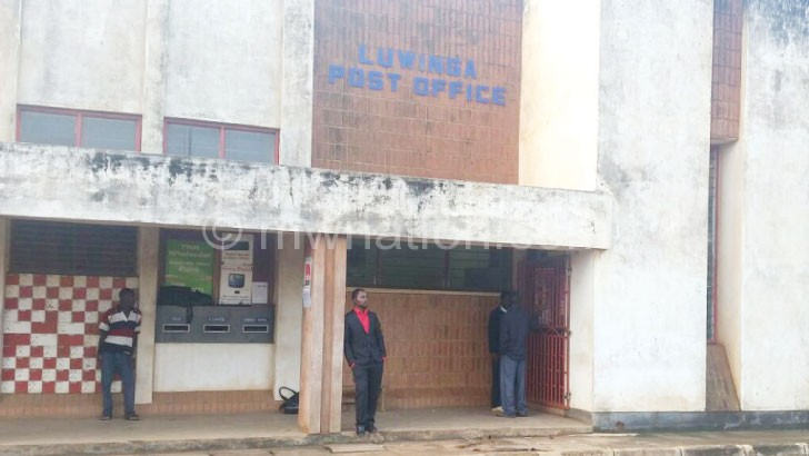 Broken into: Luwinga Post Office where OBM operates from