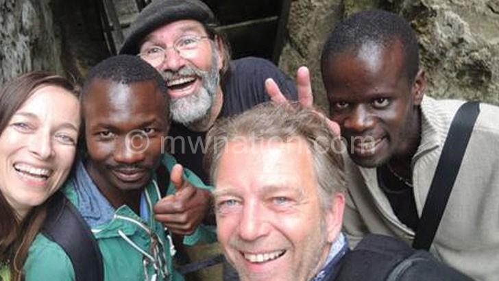 Mphundu (R) and some of Ku Kabula collaborators