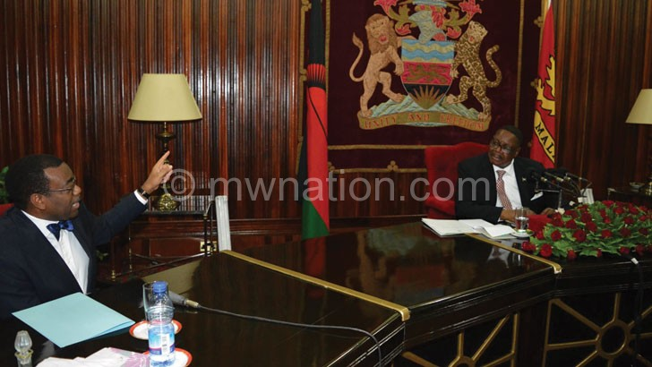 Adesina: Malawi has no business not to feed itself