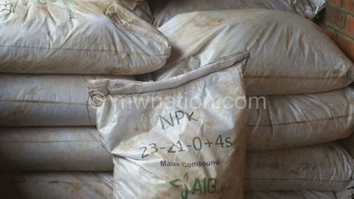 Recovered: Some of the fertiliser that was buried