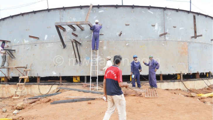 Fuel reserves at Matindi in Blantyre
