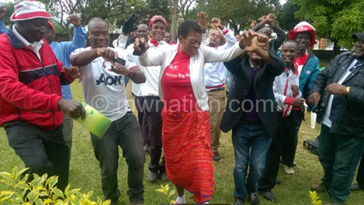 Bullets regional committee members celebrate  after endorsing Nyasa takeover