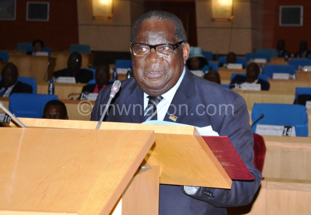 Announced expenditure controls: Gondwe