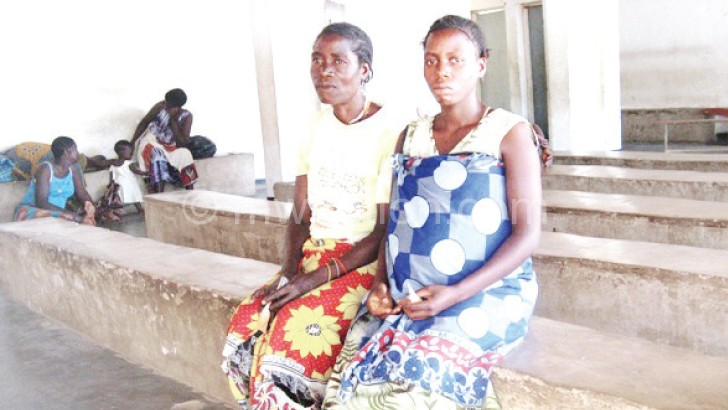 Mbale (R) says she relies on her mother