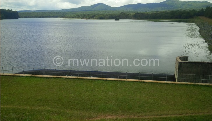 Now filled to capacity: Lunyangwa Dam in Mzuzu