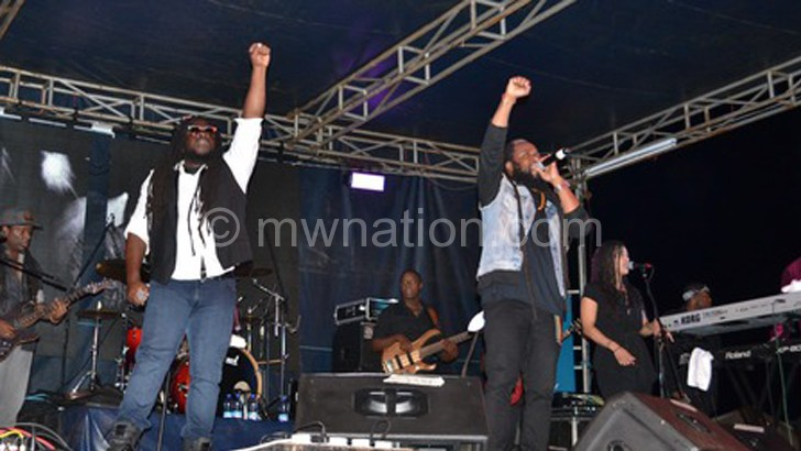 Morgan Heritage, one of the performers brought to Malawi by Born Afrikan, on stage