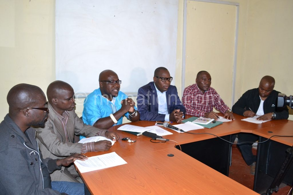 NGO representatives during the press briefing on Sunday