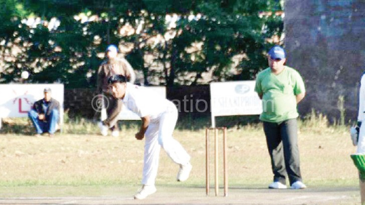 Cricket action during last weekend's  games at the OCC