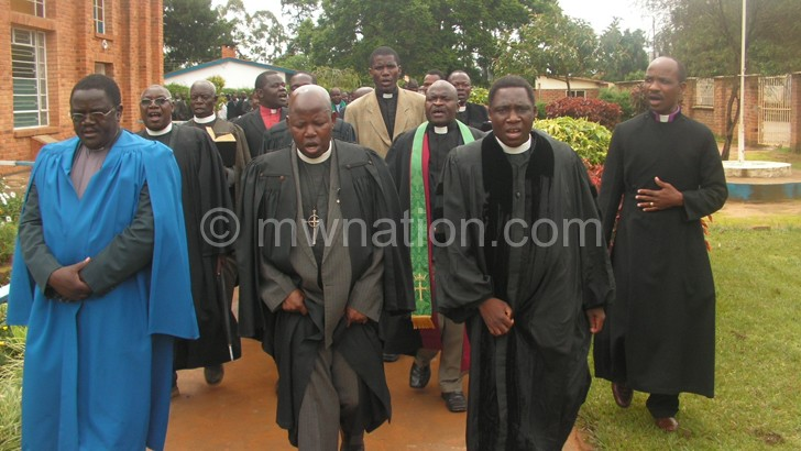 Some of the Livingstonia Synod clergy members that are seeking greater ties