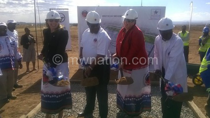 Flashback: Breaking ground for Nkhoma sub-station earlier in Lilongwe