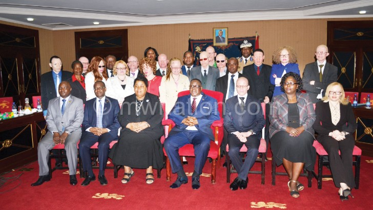 Representatives of albinos in the country met President Mutharika and government officials over their security