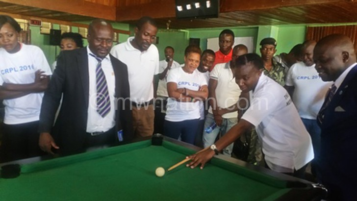 Chiumia takes a shot to mark the launch of the sponsorship