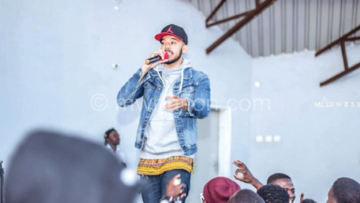 Theo performing at Bucci's show in Blantyre last week