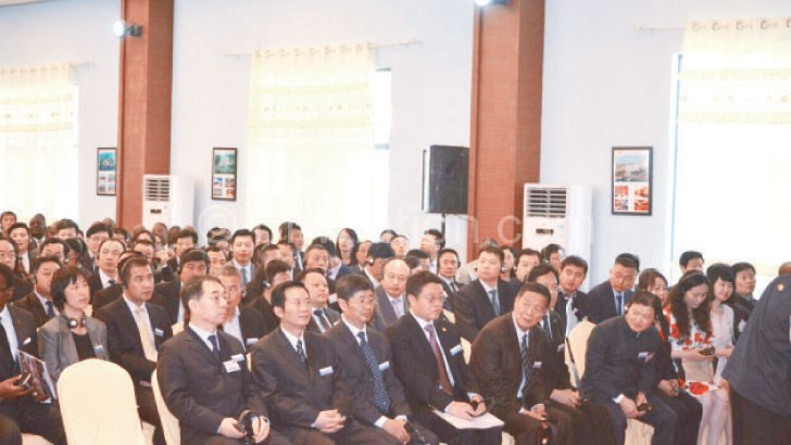 Part of Chinese delegation at the forum in Lilongwe yesterday