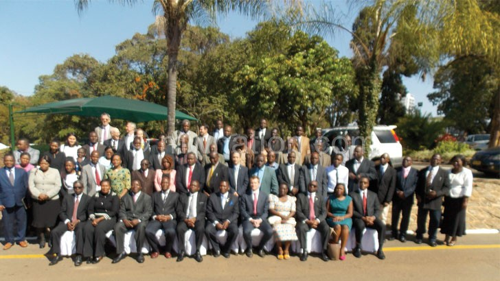 Group photo of delegates to the Joint Sector Review meeting