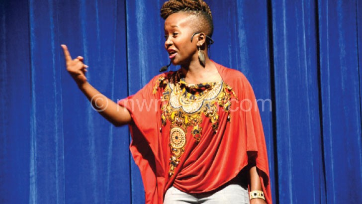 Kansiime wows patrons during her performance in 2014