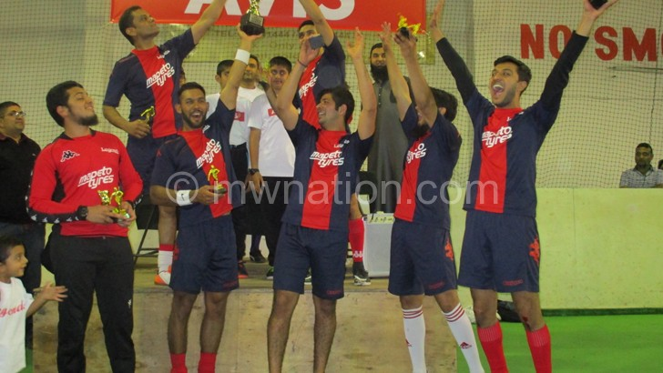 Champions: Mapeto Tyres celebrate their victory
