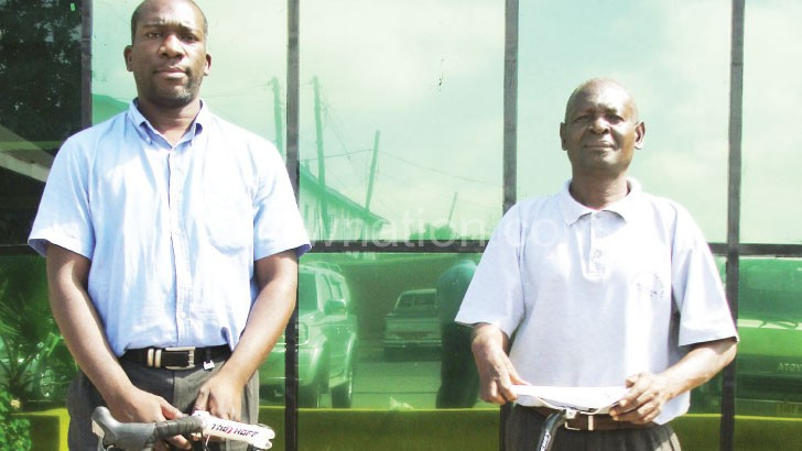 Mkwezalamba (L) and Kadewere have retained their posts