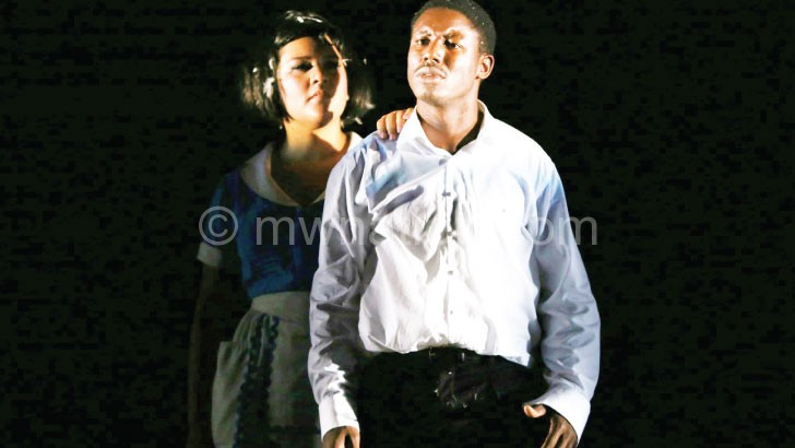 Mzembe performs in The Tragedy of King Richard III