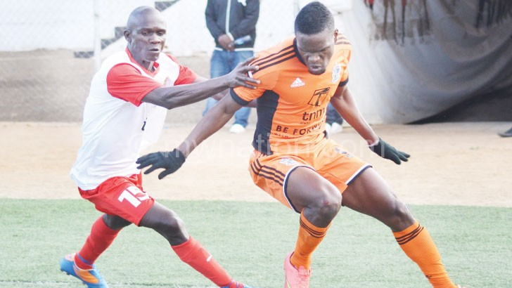 Wanderers and Red Lions battling it out in a league match last weekend