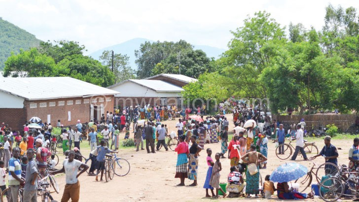 Beneficiaries await to receive subsidised farm inputs