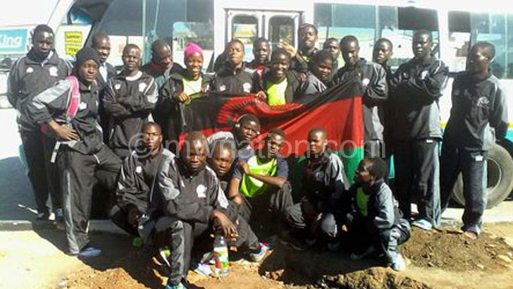 The athletics team that represented Malawi in Zambia