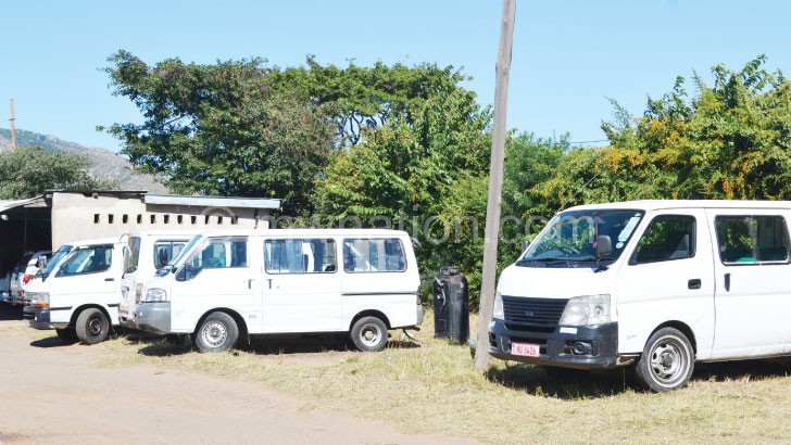 Some of the detained minibuses