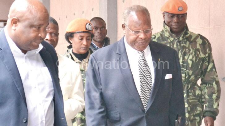 Muluzi in an earlier court appearance