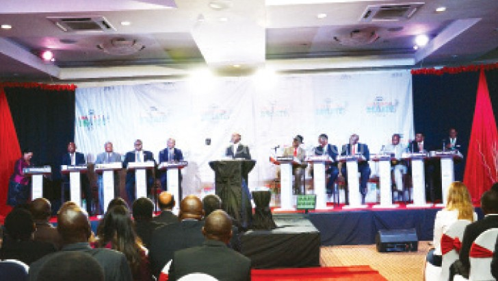 Twelve political parties fielded a presidential candidate during the May 20 2014 Tripartite Elections