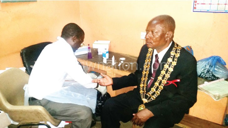 Chapondera (R) getting tested