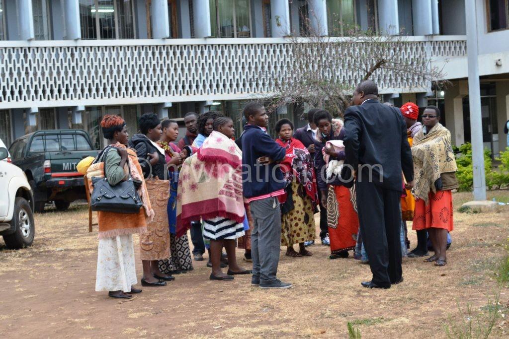 Dennis Kalekeni adressing some of the teachers | The Nation Online
