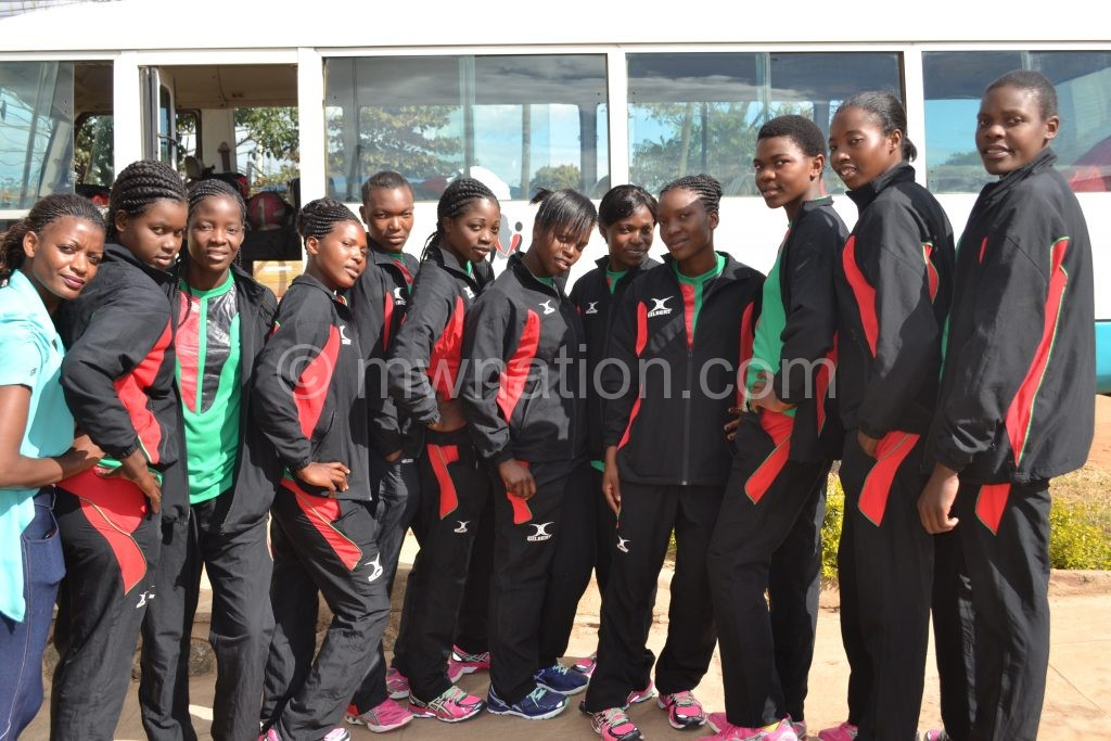 In danger of early exit: The Junior Queens pose before departing for Botswana