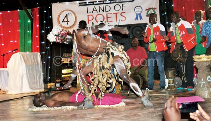 Chichiri Prison Cultural Troupe perform a vimbuza dance