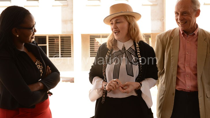 Madonna (C) flanked by Borgestein (R) and Chilunjikaa