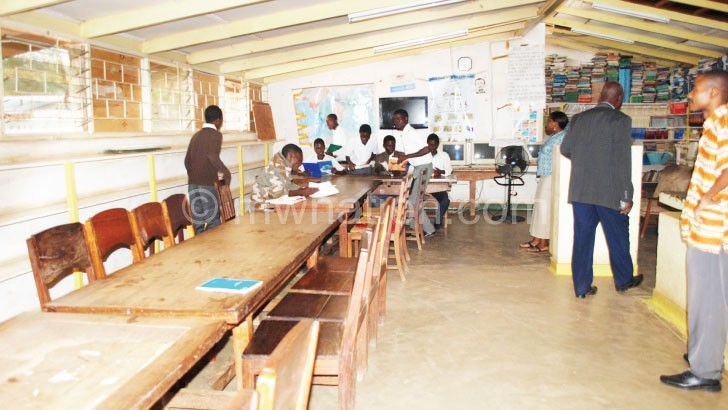 The under stocked library at Nsanje Secondary School