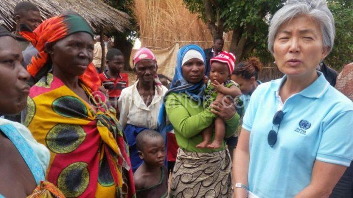 Kang (R) with women of Mpamasi Village