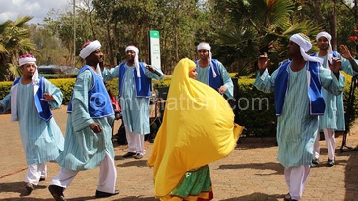 Aswan Cultural Troupe performing