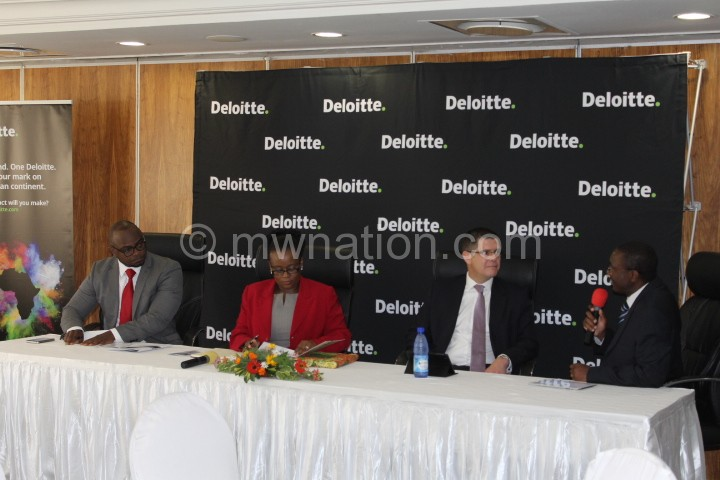 from left to right-Chales Ulaya, Atuweni, Deloitte's Anthony Smith and Tricha Simon