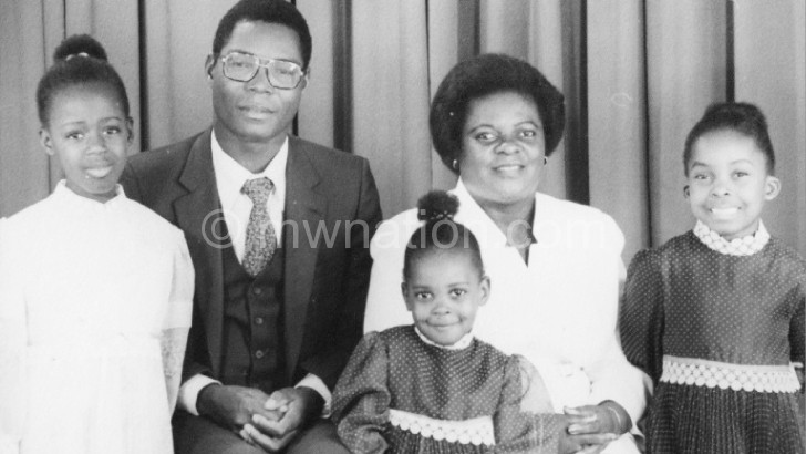 Kalyati and her famnily, back in the day