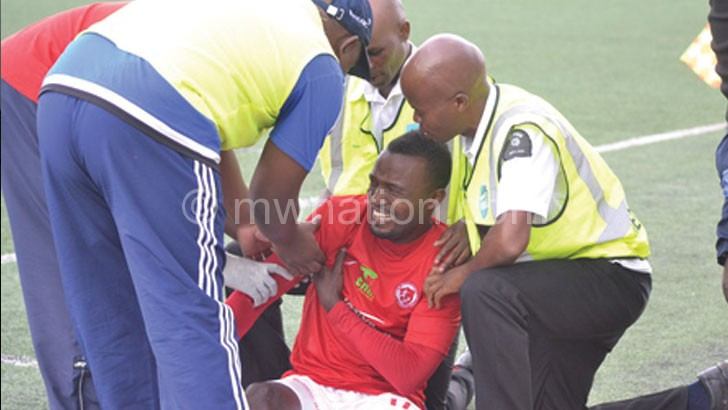 Likwemba in pain after the injury