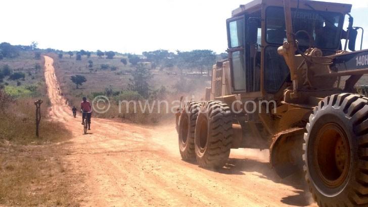 A road under construction: Some contractors lodged complaints