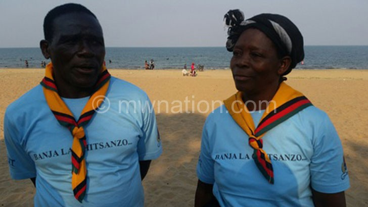 Said they benefitted: Zina (R) and her husband Binalison