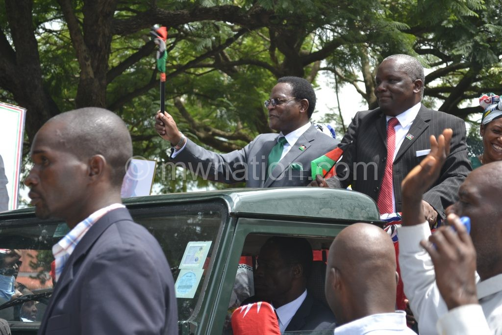 MCP president Lazarus Chakwera and his runningmate Richard Msowoya also had their own colourful campaign