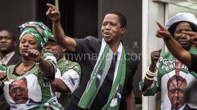 Lungu and his wife dance in the run up to the elections