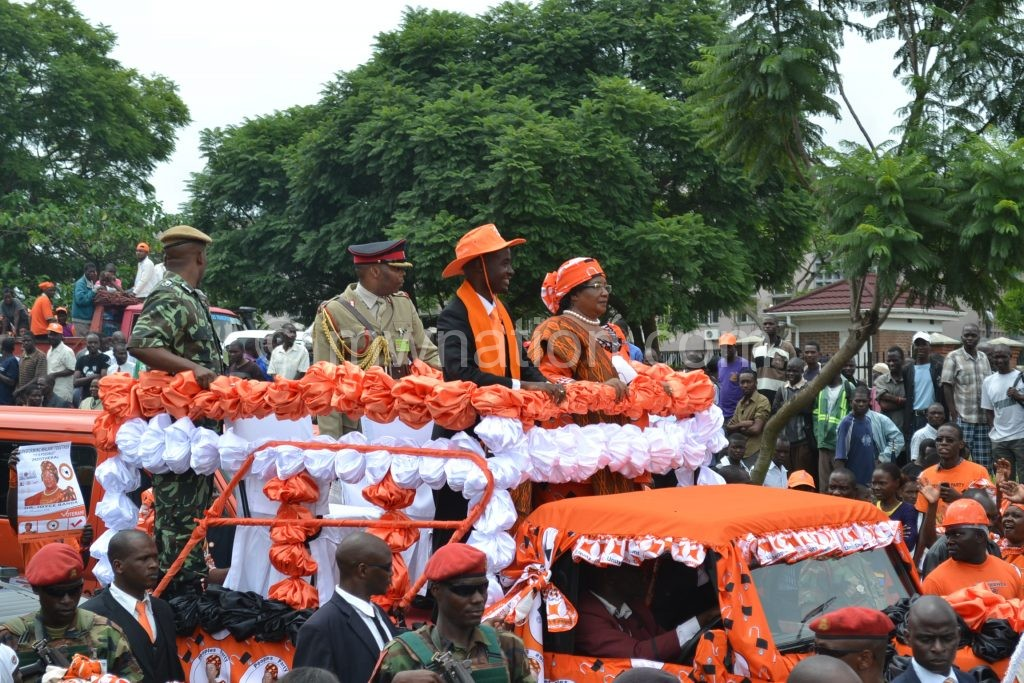 PP's Joyce Banda during the 2014 campaign