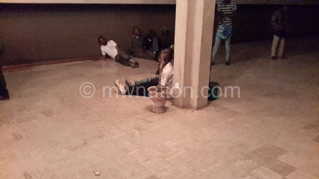Some of the cornered men on the floor at MCP headquarters