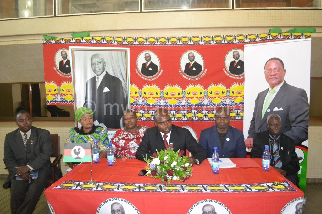 MCP officials addressing the press on Monday