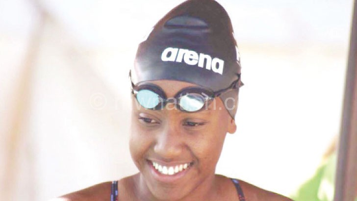 Representing Malawi in swimming: Pinto